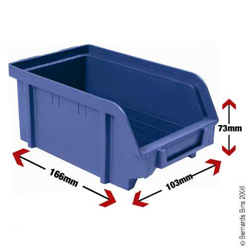 View Item 60 Plastic Bins - 73mm High x 103mm Wide x 166mm Deep