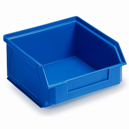 Box of 50 Premium Plastic Bins 54h x 104w x 94mmd BLUE