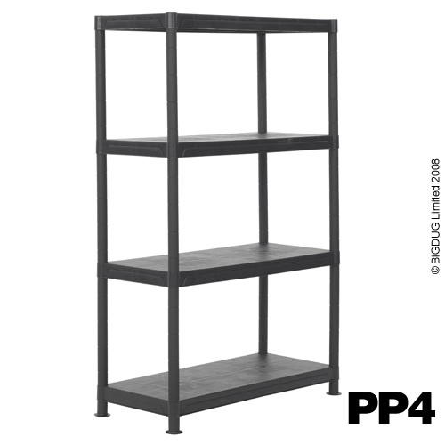 3 4 5 tier value plastic storage shelving units ebay. Black Bedroom Furniture Sets. Home Design Ideas