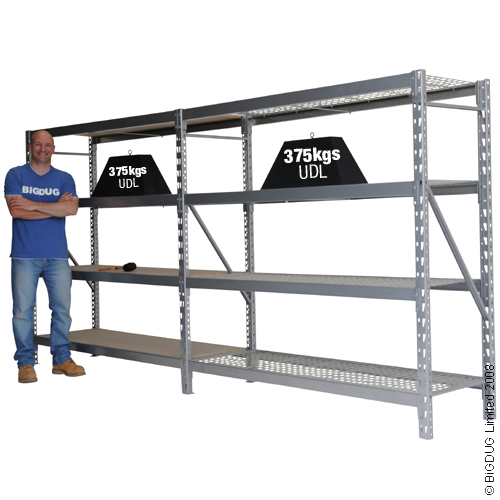 Heavy Duty Widespan Longspan Shelving Extension Bay
