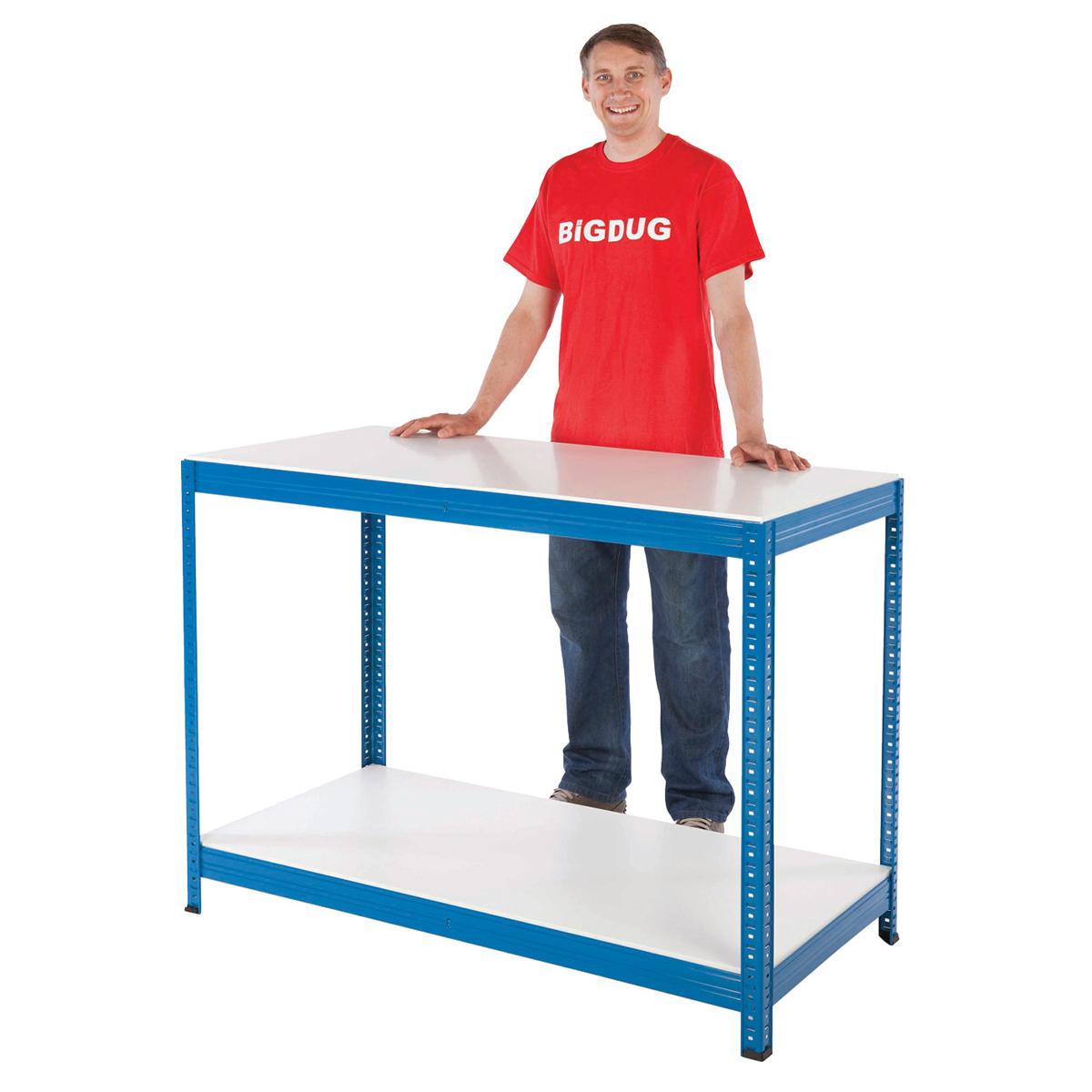 Garage Workbench Steel Bench 300kg Heavy Duty Work Station Storage Shelving Ebay
