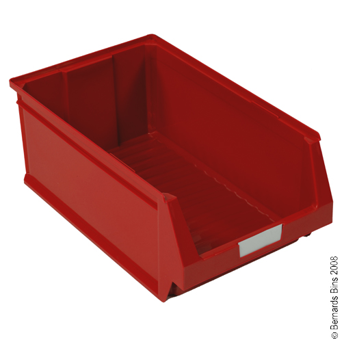 View Item Pack of 24 Premium Red Bins 80mm High x 100mm Wide x 170mm Deep