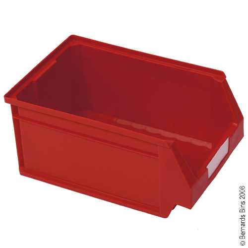 View Item Pack of 15 Premium Red Bins 130mm High x 160mm Wide x 236mm Deep