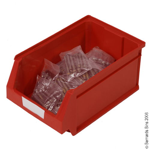 View Item Pack of 12 Premium Red Bins 155mm High x 216mm Wide x 336mm Deep