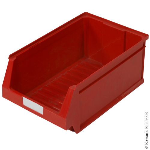 View Item Pack of 12 Premium Red Bins 200mm High x 303mm Wide x 500mm Deep
