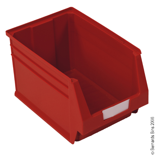 View Item Pack of 6 Premium Red Bins 300mm High x 303mm Wide x 500mm Deep