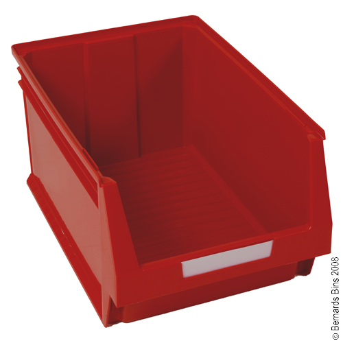 View Item Pack of 6 Premium Red Bins 300mm High x 400mm Wide x 600mm Deep