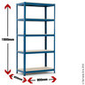 View Item Budget Shelving Bay - 1780h x 900w x 450d mm