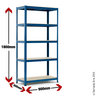 View Item Heavy Duty Shelving Bay - 1780h x 900w x 300d mm Blue Racking