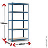 View Item Industrial Shelving Bay - 1780h x 900w x 450d mm