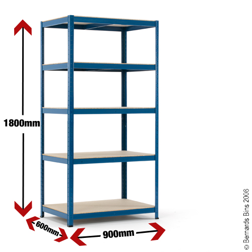 Industrial Shelving Bay - 1780h x 900w x 600d mm Preview
