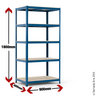 View Item Industrial Shelving Bay - 1780h x 900w x 600d mm