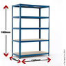 View Item Industrial Shelving Bay - 1780h x 1200w x 450d mm