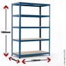 View Item Industrial Shelving Bay - 1780h x 1200w x 600d mm