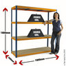 View Item Heavy Duty Shelving Bay 1780h x 1800w x 600d mm