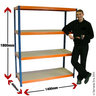 View Item Heavy Duty Shelving Bay 1780h x 1400w x 600d mm