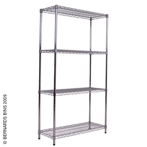 Chrome Shelving Bay - 2130h x 915w x 610d mm Preview