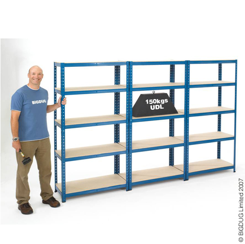 3 Bays of Garage Shelving Racking 1780h x 900w  x450d FREE DEL Enlarged Preview
