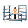 View Item 2 Shelving Bays 1780h x 900w x 450d mm + 1 Work Bench