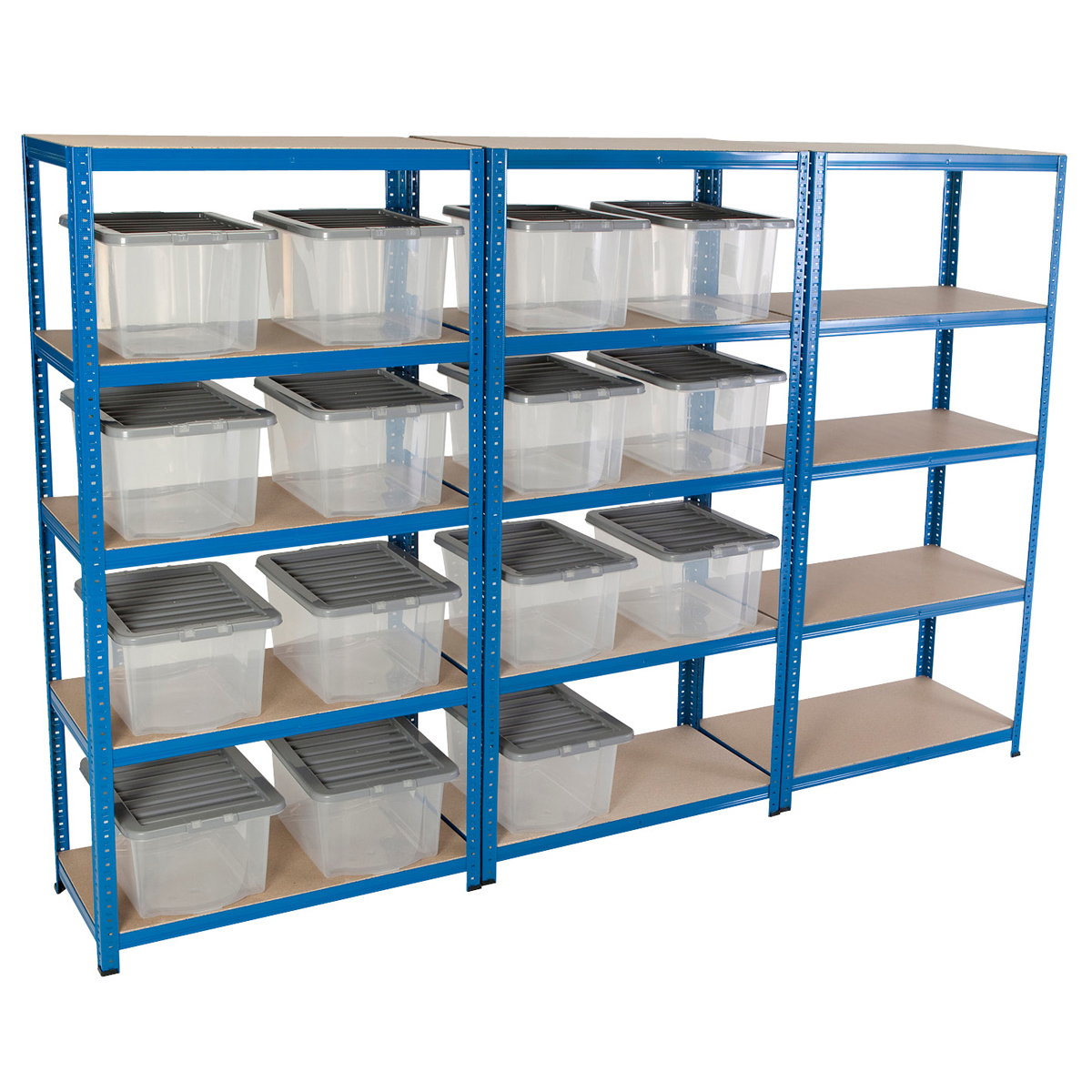BiGDUG 3 Shelving Storage Bays 1780 x 900 x 450 & 15 x VUB30's