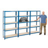 View Item 3 Shelving Bays 1780h x 900w x 450d mm + 15 Plastic Boxes