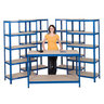 View Item 4 Shelving Bays 1780h x 900w x 450d mm + 1 Work Bench