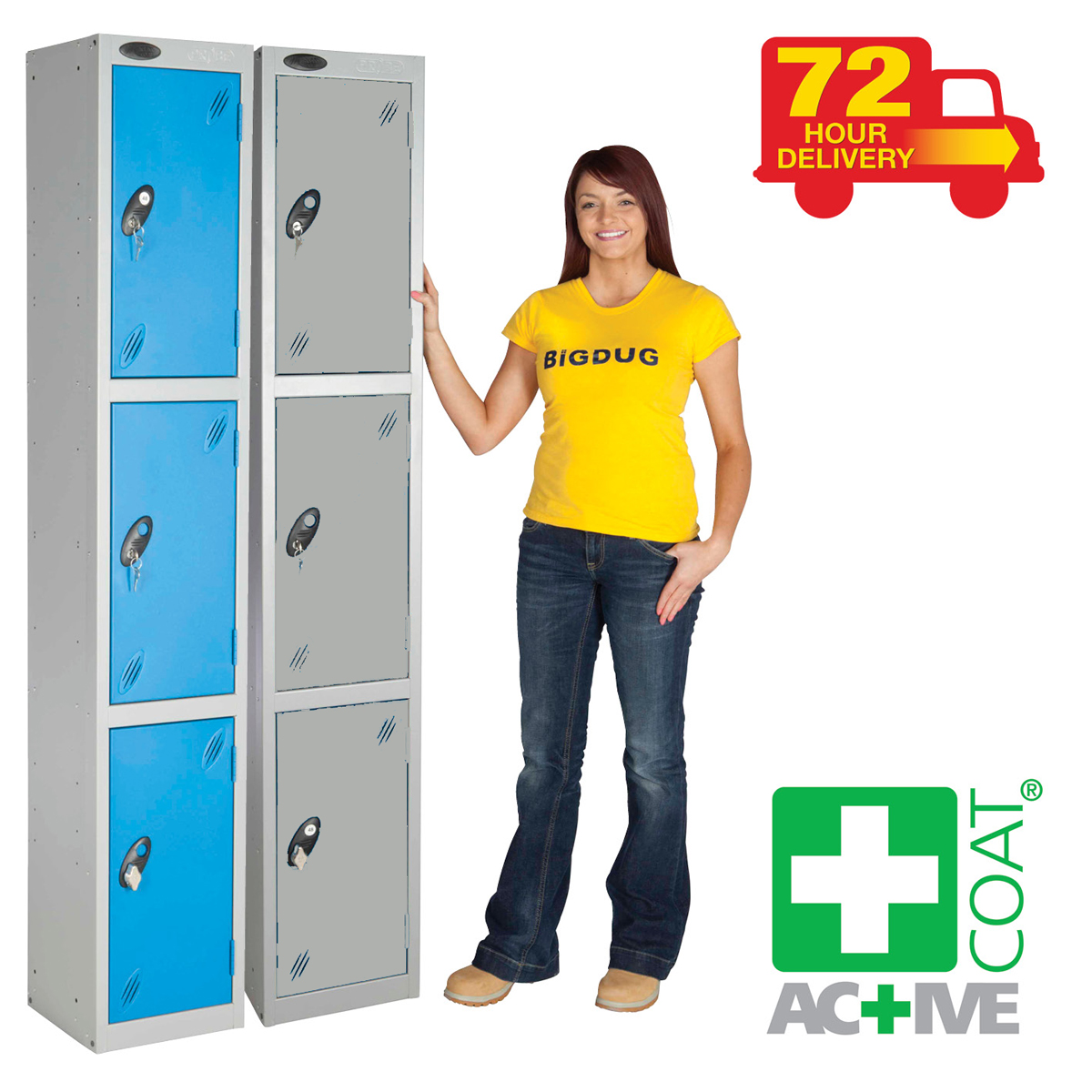 Metal Staff Storage Lockers Quick Delivery. Prices from £118.80 Delivered BiGDUG