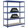 View Item Industrial Shelving Bay - 1780h x 1500w x 600d mm