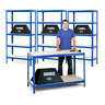 View Item 3 Shelving Bays 1780h x 900w x 450d mm + 1 Work Bench