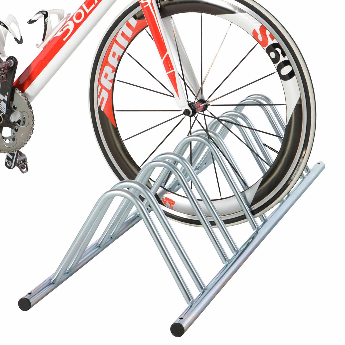 1 2 3 4 5 BIKE BICYCLE CYCLE FLOOR MOUNT RACK STAND SECURE STORAGE BIKES