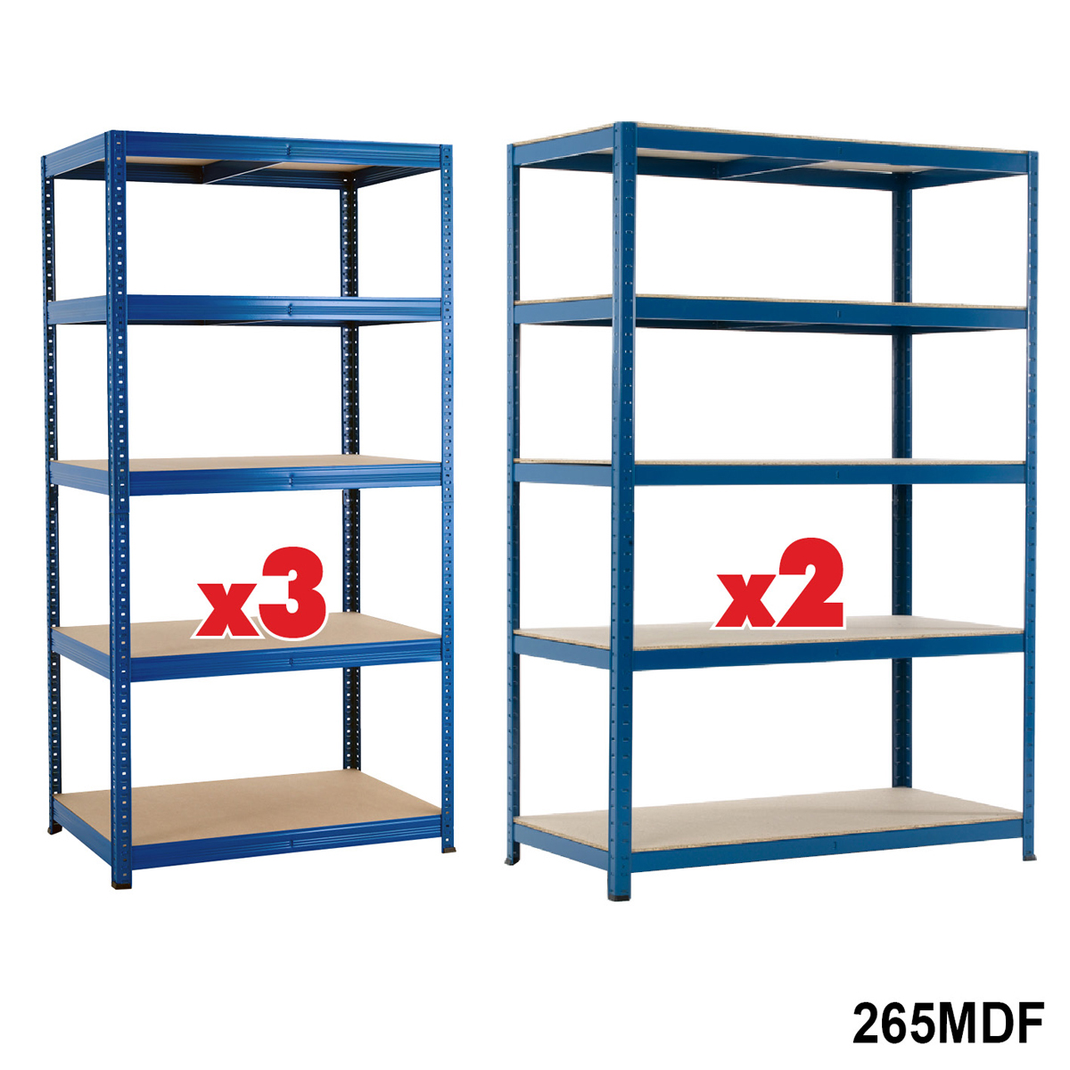 5 Bay Industrial Shelving Offer. 265kg Per Level