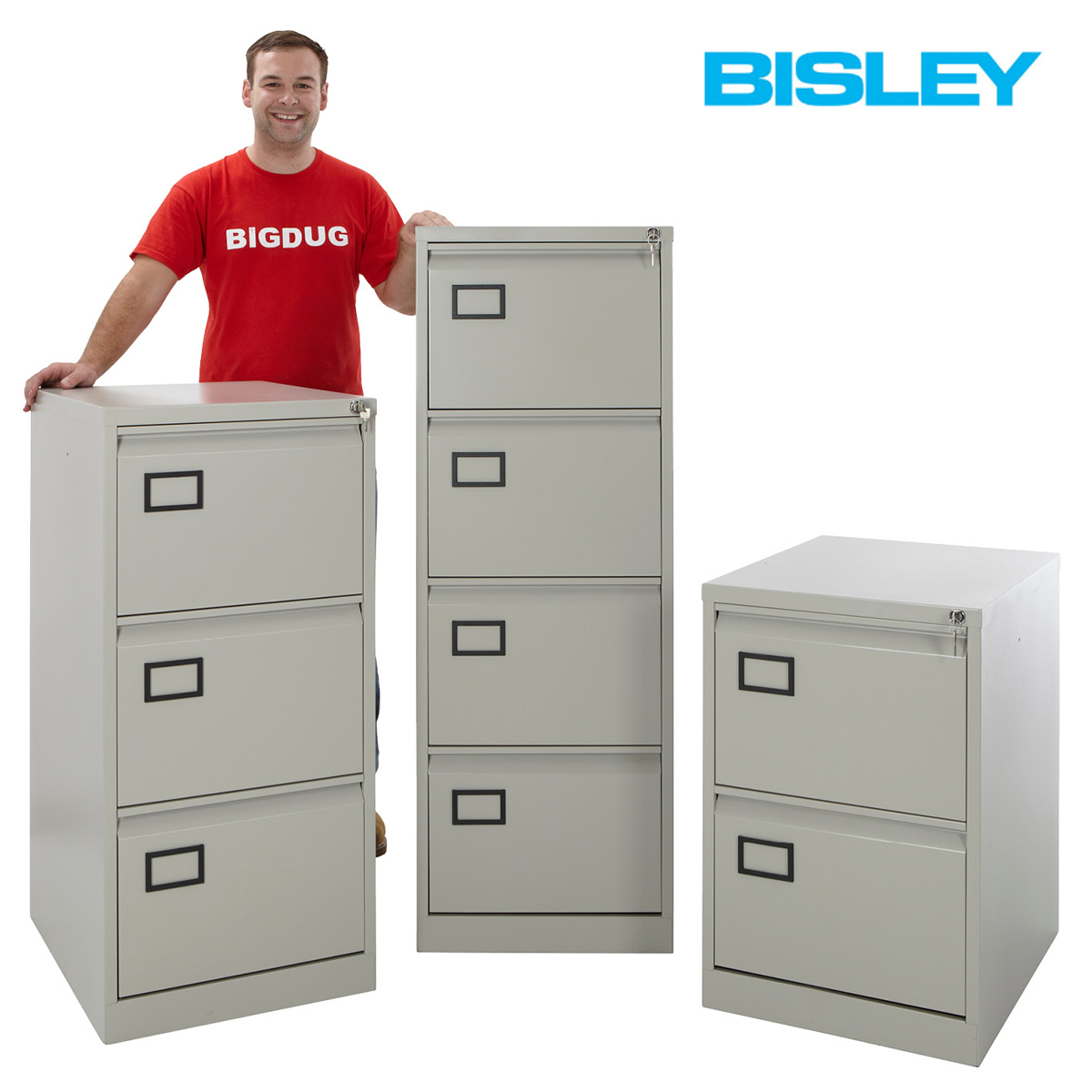 Bisley Contract Filing Cabinets 2, 3 & 4 Drawers Foolscap. Express Delivery