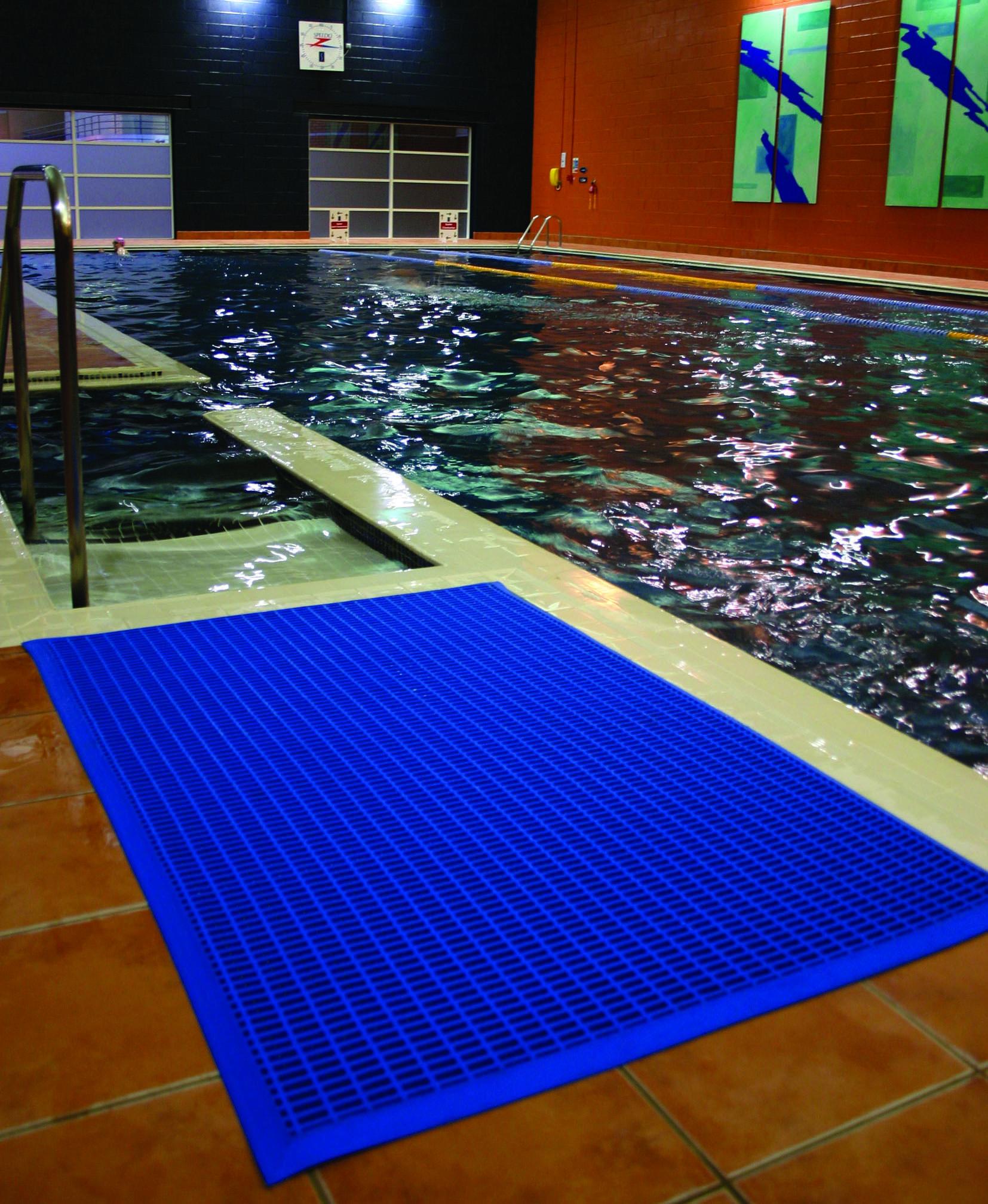 pool mat swimming safety pvc matting wet floor gym drainage non slip 4 colours ebay