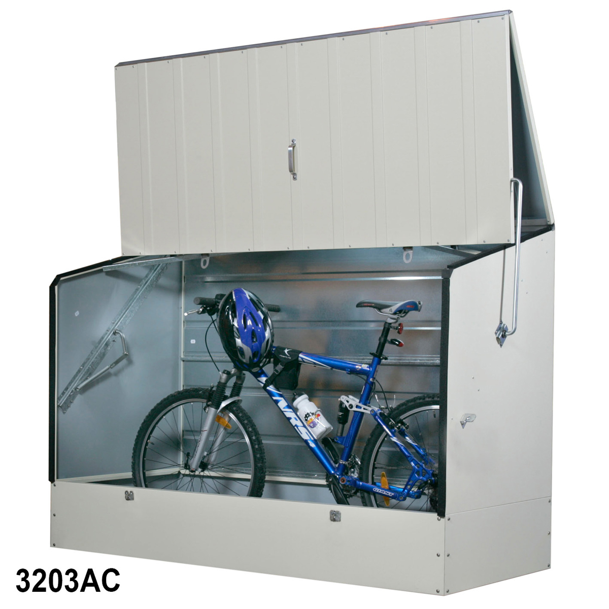Cream Steel Bicycle Shed 1330h x 1960w x 890d mm