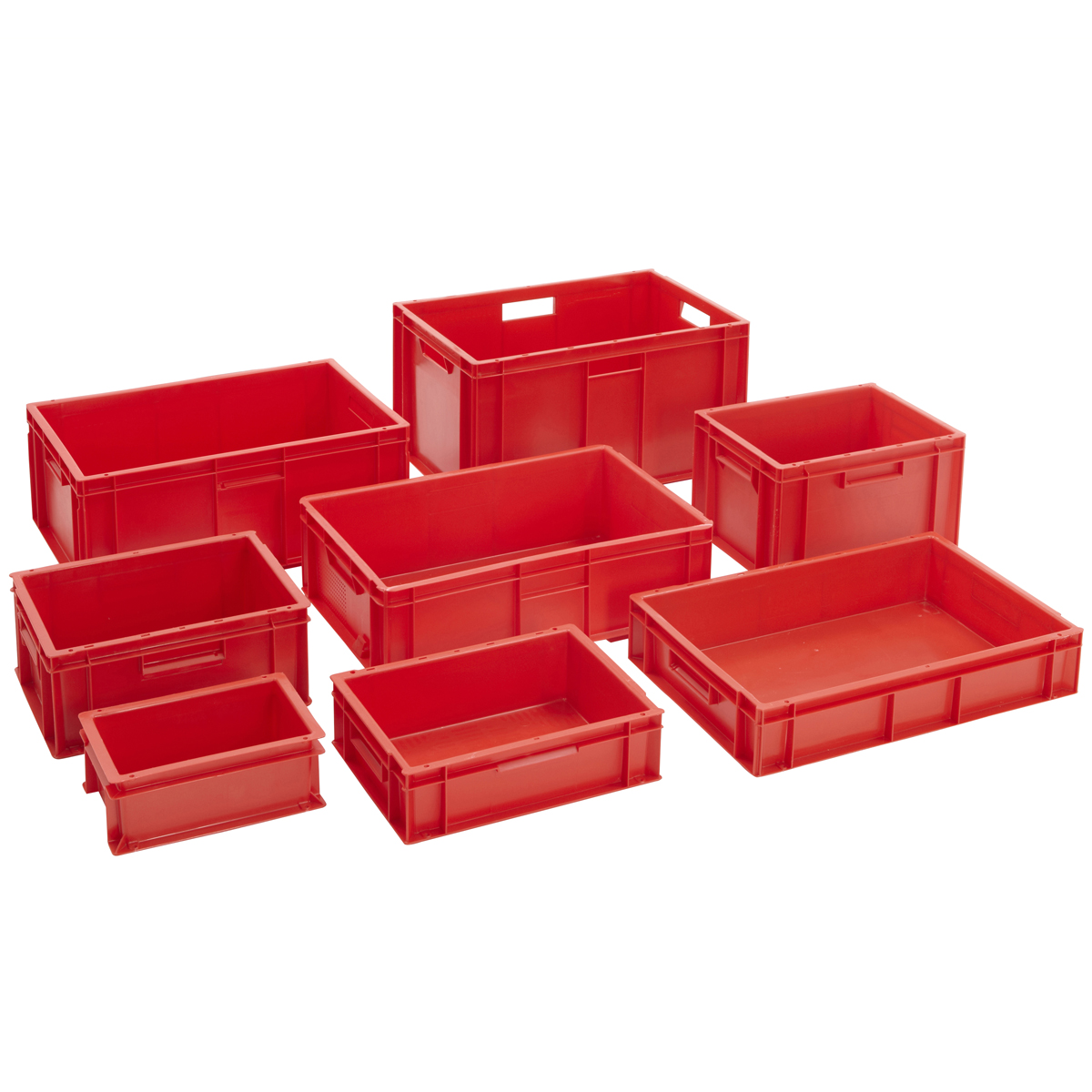stackable euro storage containers red plastic industrial