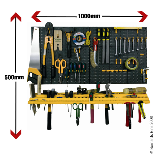 Garage wall TOOL RACK storage KIT  Inc 50 HOOKS
