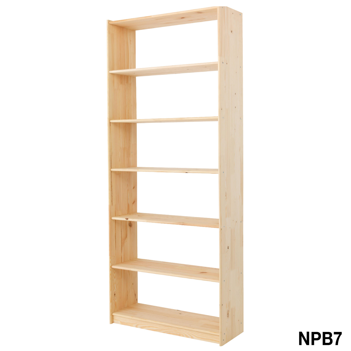 Superb img of  and Racking Natural Pine 7 Level Wooden Bookcase 1921hx800wx300d with #865328 color and 1200x1200 pixels