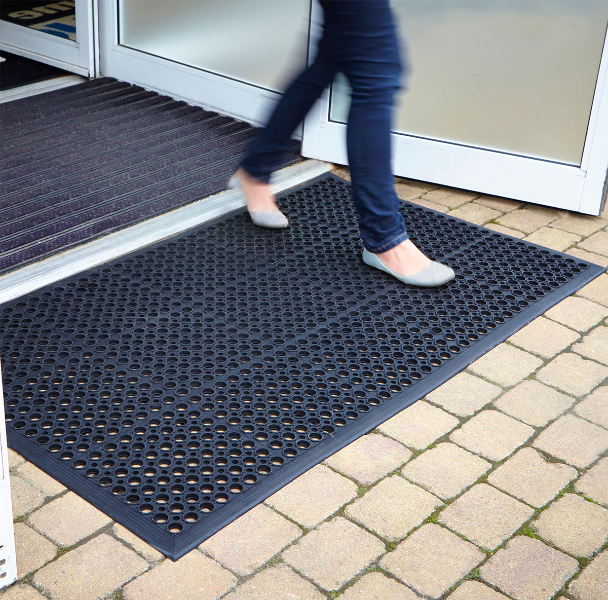 rubber mats outdoor heavy duty entrance mat non slip floor large small sizes ebay