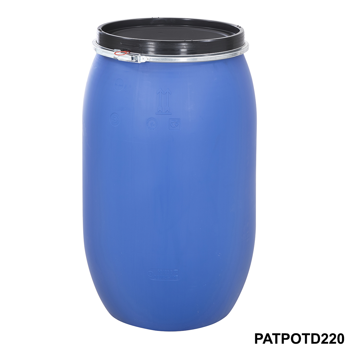 Plastic open top drum 220 litre containers bulk storage keg barrel ebay - Top plastic krukje ...