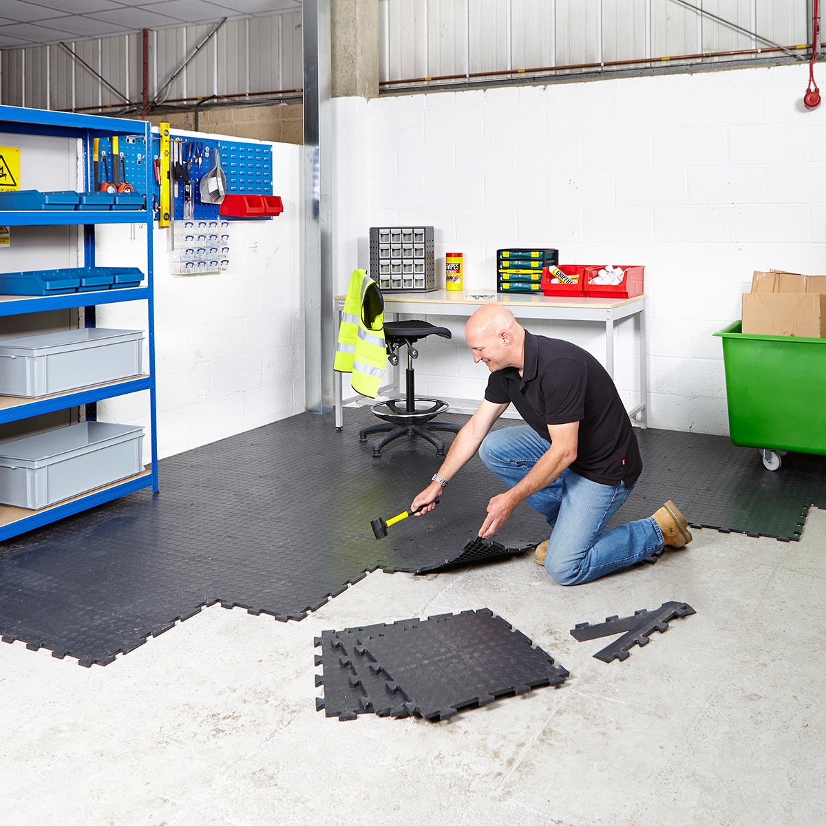Garage floor tiles interlocking vinyl flooring heavy duty