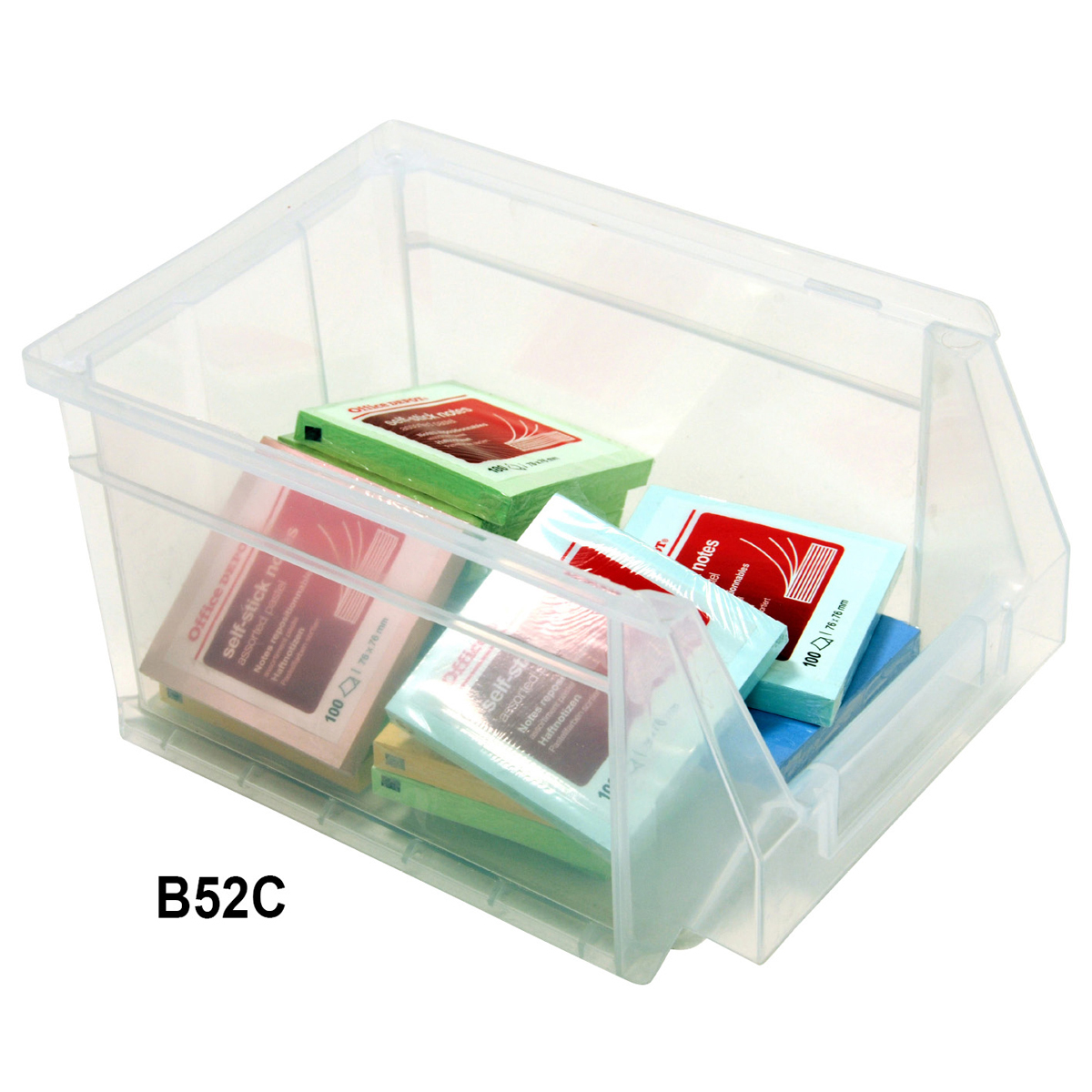 View Item Pack of 15 Premium Clear Bins 130mm High x 160mm Wide x 236mm Deep