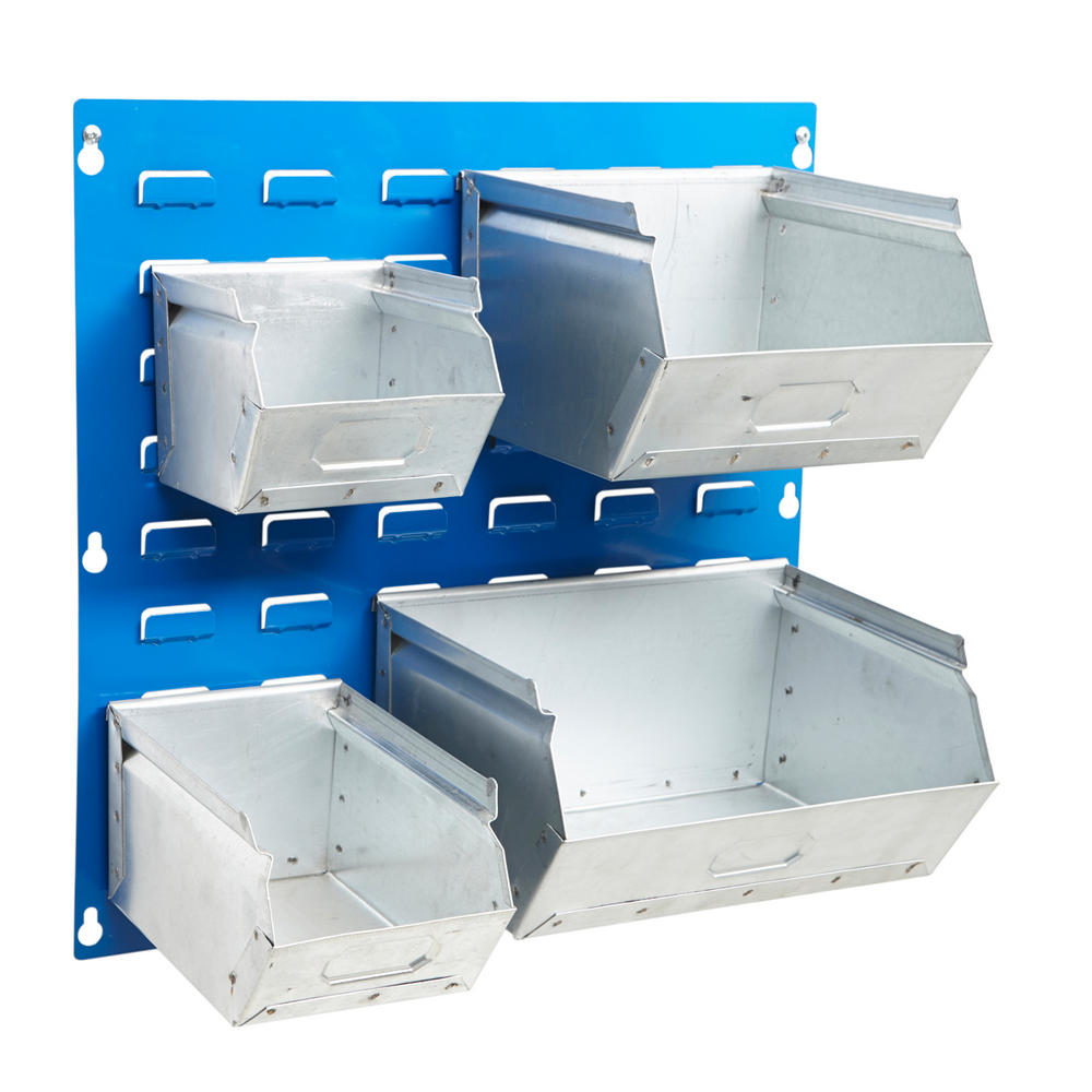 Galvanised Steel Louvre Panel Bins