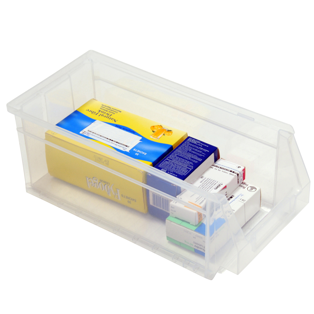 Box of 10 Premium Plastic Bins 130h x160w x336d CLEAR