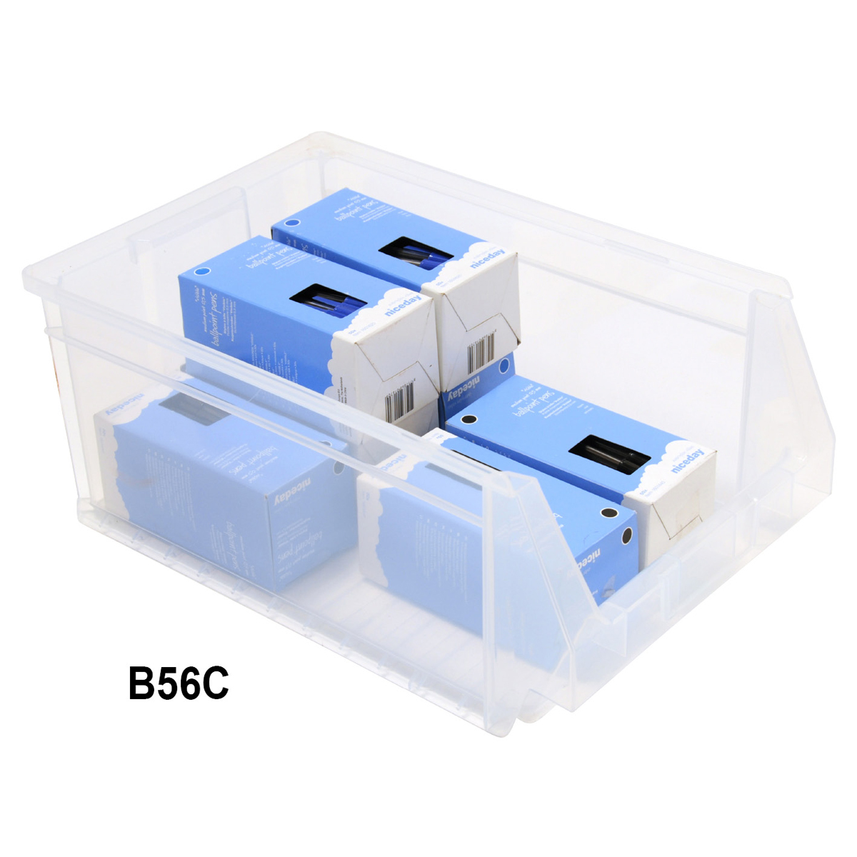 View Item Pack of 8 Premium Clear Bins 175mm High x 270mm Wide x 420mm Deep