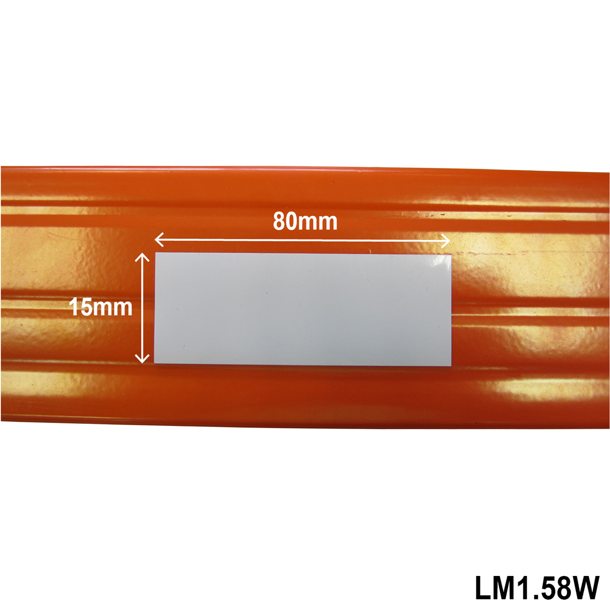 Location Marker 15mm X 80mm White - Pack 100