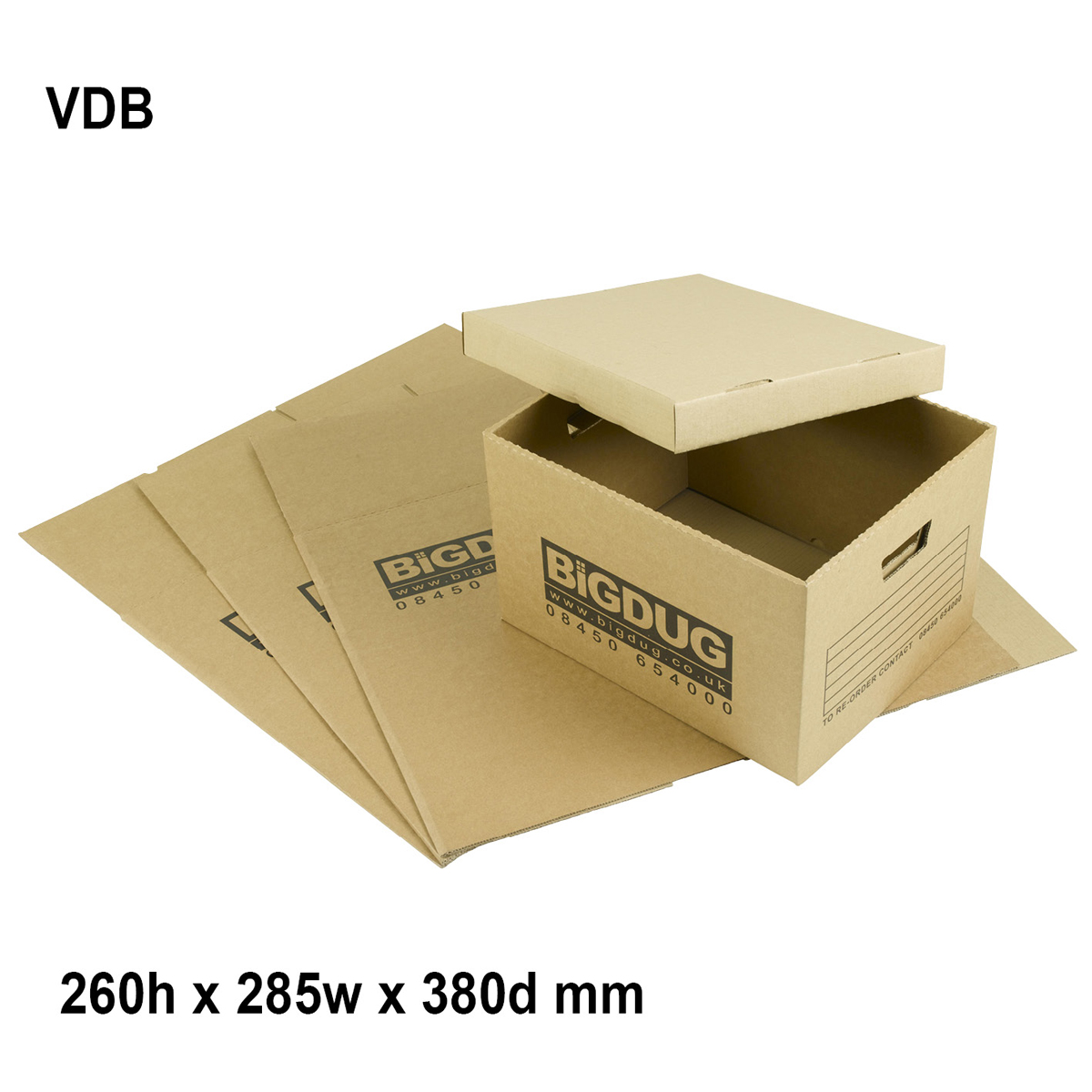 Value Document Box 260h x 285w x 380d mm with Lid 