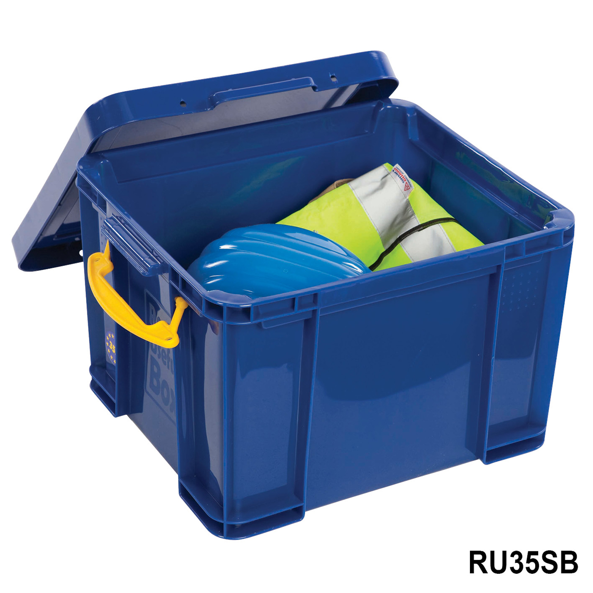 Really Useful 35 Litre Storage Box Blue With Lid