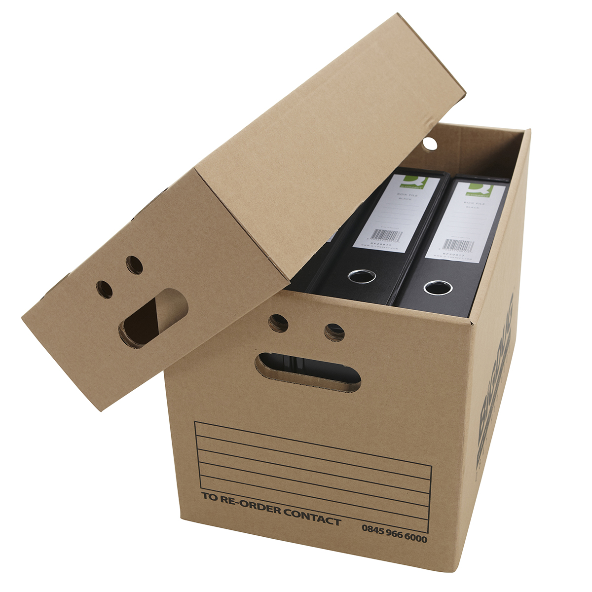 Cardboard document boxes heavy duty archive storage with for Box documents