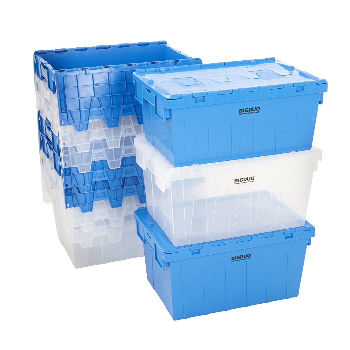 Storage Containers Tote Boxes Attached Lid Storage Box