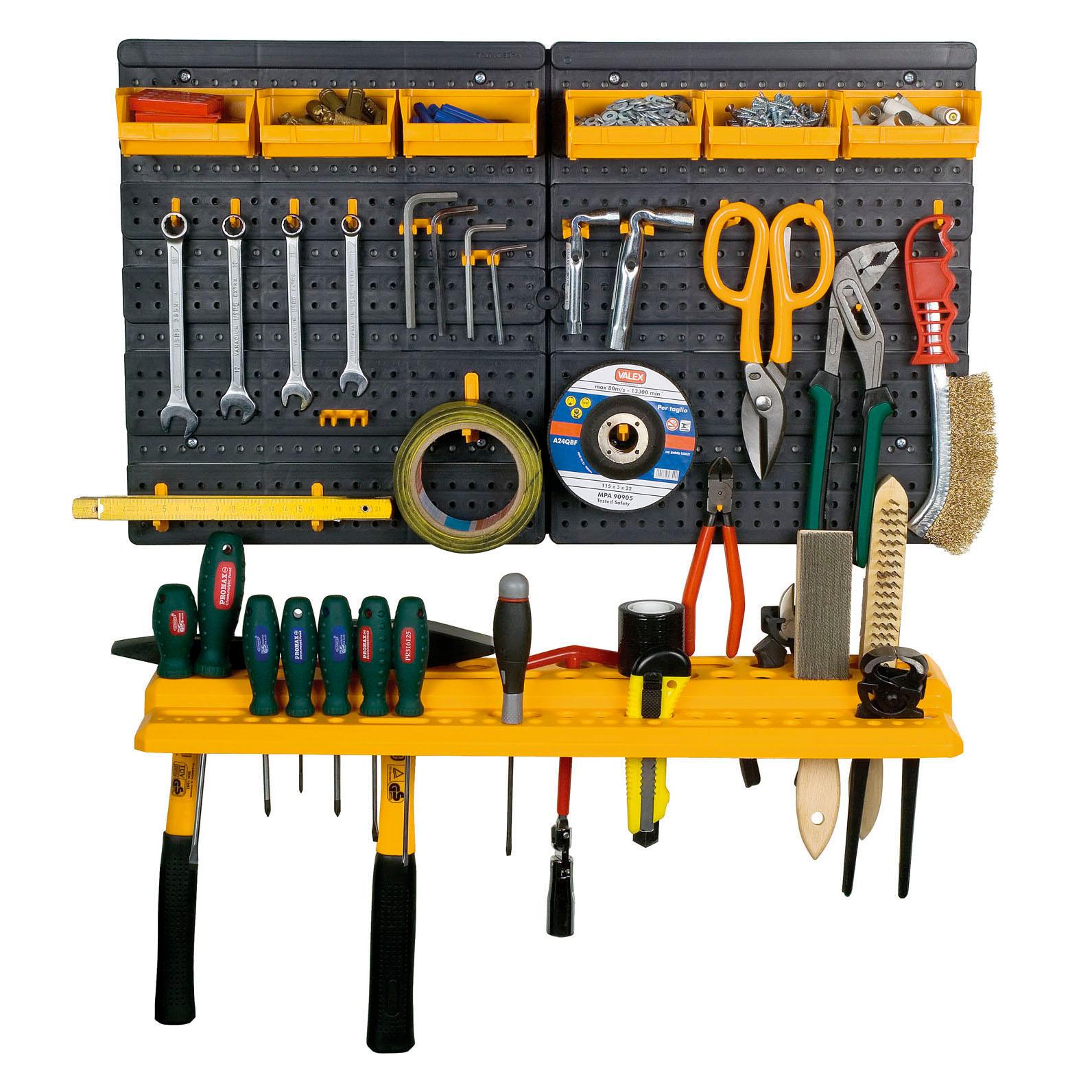 Garage Tools Organizer: Garage Tool Rack Wall Kit Mini Storage Tools Organizer
